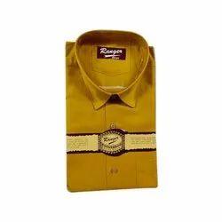 Ranger Mens Party Wear Plain Shirt, Size: 38 - 44