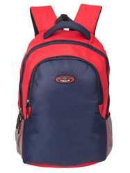 Red & Navy Blue Phoenix Trendy Casual Backpack Bag