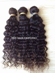 Indian Deep Wavy Human Hair Weft