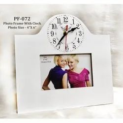 Wooden Clock Photo Frame