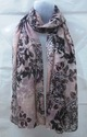 100% Voile Fancy Printed With Lurex Scarves