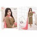 Georgette 3/4th Sleeve Ladies Designer Suit