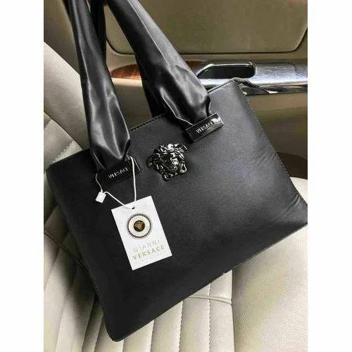 Black Versace Las Handbag Rs 1450