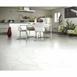 White Glazed Porcelain Floor Tile, Size (In Cm): 4 X 4 Feet