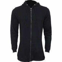 Black S And XL Hoodie Full Zipper Jacket