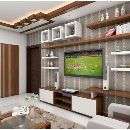 Living Room Tv Unit Interior Designing Service In Medinipur Rifa Interior Exterior Developer Id 21041436912