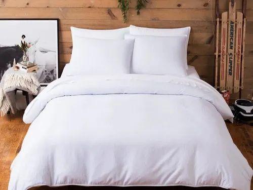 400tc Satin Plain White Bed Sheet Fabrics