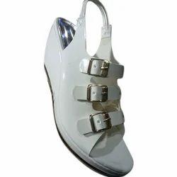 Womens Designer White Heel Sandal, Size : 7-11