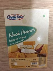 Black Pepper Cheese Slice, Packaging Type: Packet, for Home Purpose