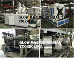 PE/PVC Plastic Corrugated Pipe Extrusion Making Extruder Machine