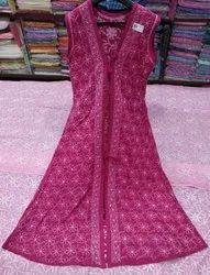 Sleeveless Multicolor Ladies Embroidered Shrug