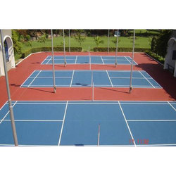 Blue And Red Acrylic Outdoor Sport Flooring