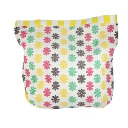 Cotton Yellow Flower Print Bootan Beats Bag BB10013 for Shopping