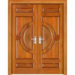 Teak Wood Designer Wooden Door, Size: 7-8 Feet Height