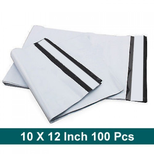 White & Black 10 X 12 Pod Printed Courier Bags, Size: Min 4x6,Max 20x23