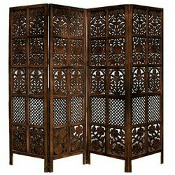 Brown Fancy Wooden Partition Screen, 3