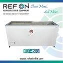 REFON GLASS TOP DEEP FREEZER-REF-650G