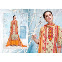Georgette Printed Semi Stitched A-line Suit