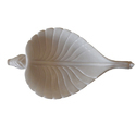 White Marble Carved Fish Leaf