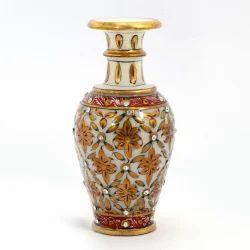 Jaipuri Meenakari Marble Flower Vase 372