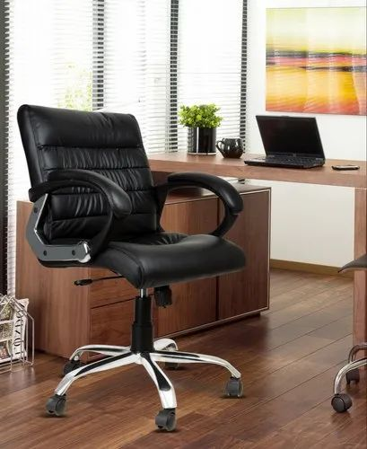 DZYN Furnitures NewtonLeatherette Office Conference Chair  (White / Black / Brown / Beige)