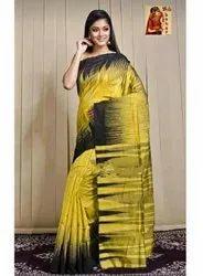 Handloom Cotton Khadi Designer Ikkat Saree