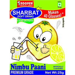 Soft Drink Concentrate for 40 Glasses - Nimbu Paani Flavour