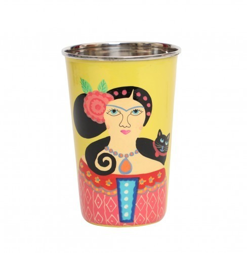 247e402d79f A Krazy Mug - Stainless Steel Tumbler Big - Lady Set Yellow, for Hotel/