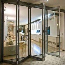 Folding Designer Aluminium Glass Door