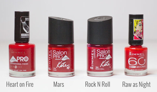 Rimmel London Pink And Red Rimmel Salon Pro Nail Color, Pack Size ...