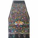 Black Cotton Silk Kantha Saree