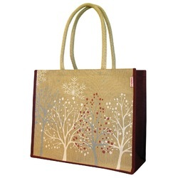 Jute Bag With Cotton Padded Handle