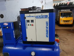 7.5 Hp Tank Base Rotary Screw Air Compressor With Dryer