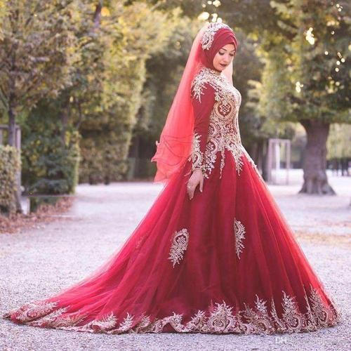 Red Wedding Dress with Sash