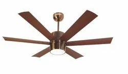 Antique Copper Electricity Fan With 6 Color LED Lights, High, Sweep Size: 48