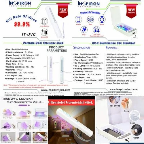 UV Sterilizer Stick And Box For Disinfection And Sanitization