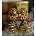 Aryan Jhumki Gold Plated Traditional Earrings, Packaging Type: Box