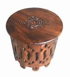 Brown Wooden Side Stool for living room, For Home, Size: 12x12x12 Inch