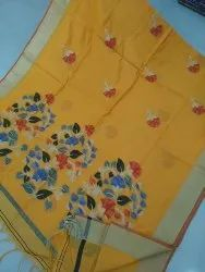 Handloom Cotton Silk Jamdani Saree