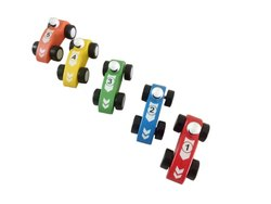 Multicolor Shilping Mini Race Car Wooden Toy Set 5
