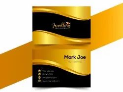 Text and photo Paper PVC Visiting Card Printing Services, Location: Faridabad, Ncr, Size: 80X55mm