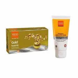 VLCC Padiglow Gold Facial Kit VLCC Gold Facial Kit Free Padiglow Scrub, Packaging Type: Box