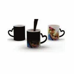 Outer Heart Handle Magic Mug