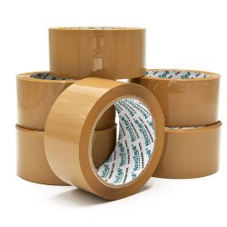 Novotape 100 M Brown BOPP Packaging Tape, For Packing, Feature: Water Proof