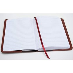 White, Maroon Long Writing Notebook