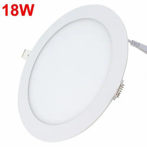 18w Led Panel Light Flat Ultra Thin Led Panel Downlight: 18W LED Round Panel Light At Rs 750 /piece