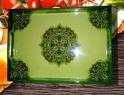 Continental Green Wood Serving Tray