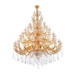 Crystal LED Jaquar Mensa Tiered Candle Hanging Chan
