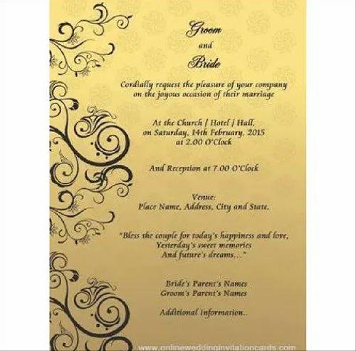 printed wedding card marriage invitation cards wedding