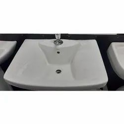 Wall Mounted Ceramic White Colour CERA Wash Basin, For Bathroom Fitting